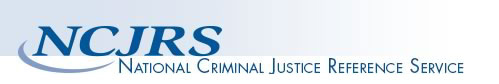 graphic heading with NCJRS acronym and text: National Criminal Justice Reference Service