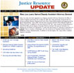 Justice Resource Update homepage